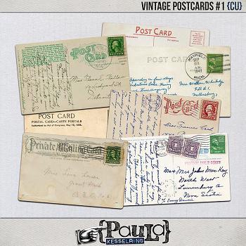 Vintage Postcards #1 {CU}