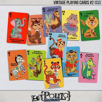 Vintage Playing Cards #2 {CU}