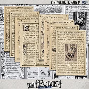 Vintage Dictionary #1 {CU}