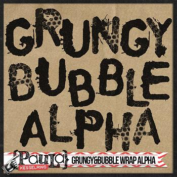 Grungy and Bubble Wrap Alpha